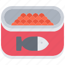 canned, caviar, eat, food, jar, restaurant, seafood icon
