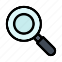 find, research, search icon
