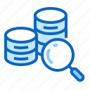 analysis, database, find, magnifier, search icon
