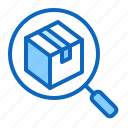 cargo, find, item, magnifier, search icon