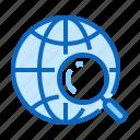 find, globe, magnifier, search, trip, web icon