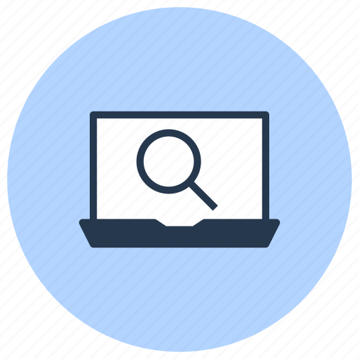 computer, find, magnifier, search, web, zoom icon