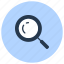 exploration, find, magnifier, search, zoom icon