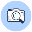 find, image, magnifier, photo, search, zoom icon