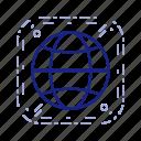 web, globe, site