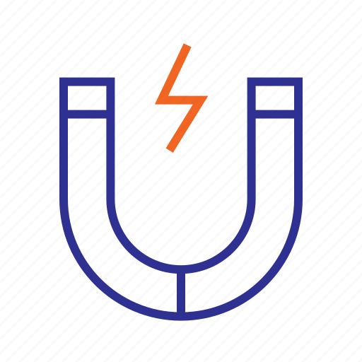 electromagnet, magnetic field, seo marketing, traffic conversion icon