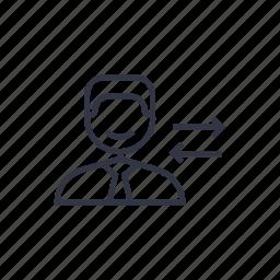 arrow, business, businessman, concept, people, seo, transfer icon