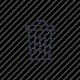 bin, delete, junk, recycle, rubbish, seo, trash icon
