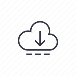 business, cloud, cloud system, data, download, seo, technology icon