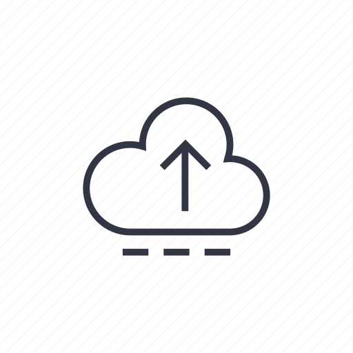 business, cloud, cloud system, data, seo, technology, upload icon