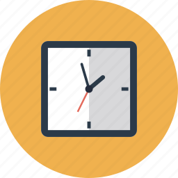 clock, day, modern, square, time, timer, wait, wall, watch icon
