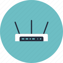 antenna, broadcast, communication, connection, device, equipment, hotspot, internet, network, router, signal, technology, web, wifi, wireless icon