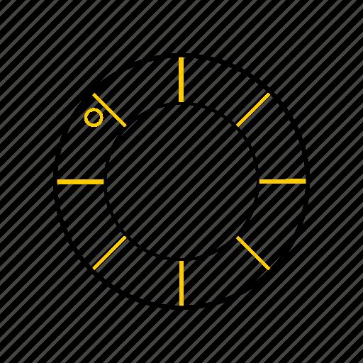 outline, rescue, season, summer, tires, yellow icon