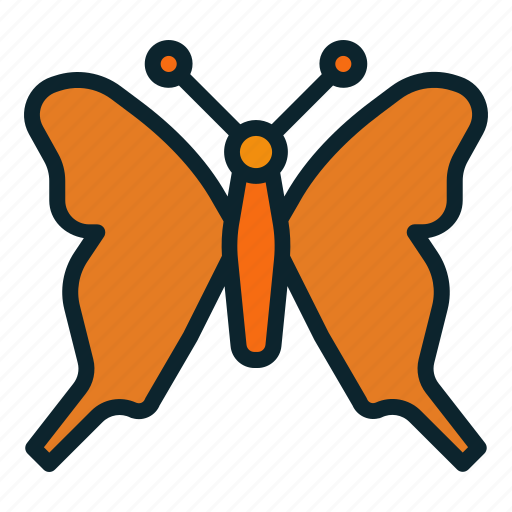butterfly, caterpillar, colorfly, fly, insect, larva, moth icon