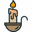 bright, candle, christmas, easter, flame, light, wax icon