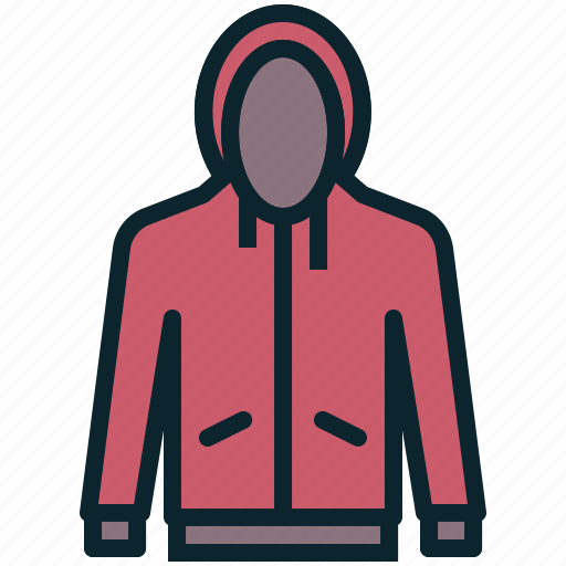 accessory, clothing, cold, fashion, hoodie, weather, winter icon