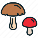 food, mushroom, vegetable, veggie, vitamin icon