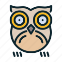 bird, halloween, night, nocturnal, owl icon