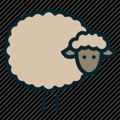 animal, easter, herd, lamb, livestock, sheep, spring icon