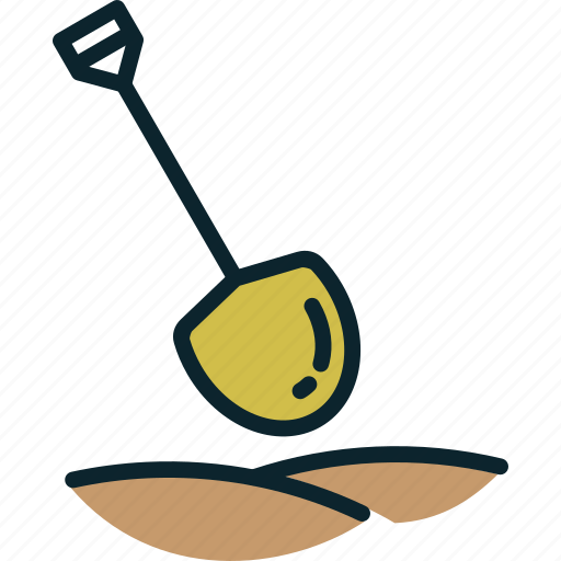 agriculture, dig, farming, gardening, mud, shovel, tool icon
