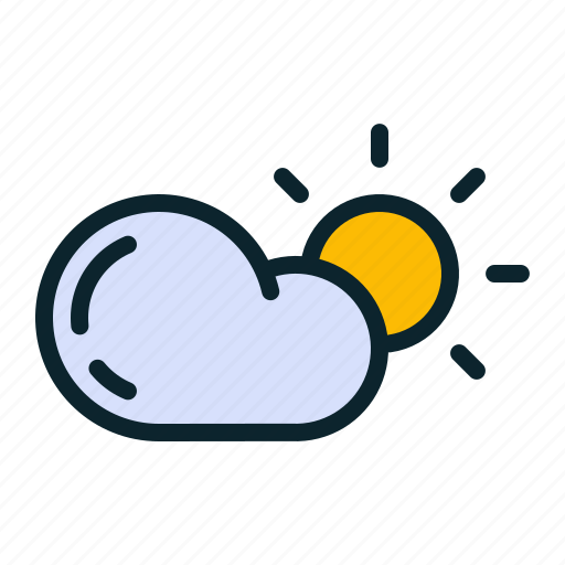 cloud, cloudy, forecast, sun, sunny, weather icon