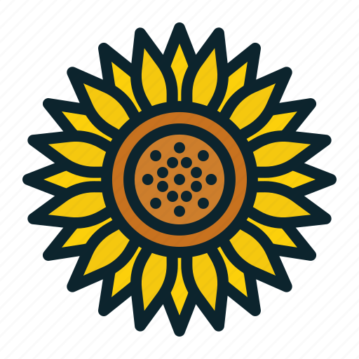 blossom, bud, flora, flower, spring, summer, sunflower icon