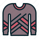 clothing, cold, knitted, sweater, wear, winter, wool icon