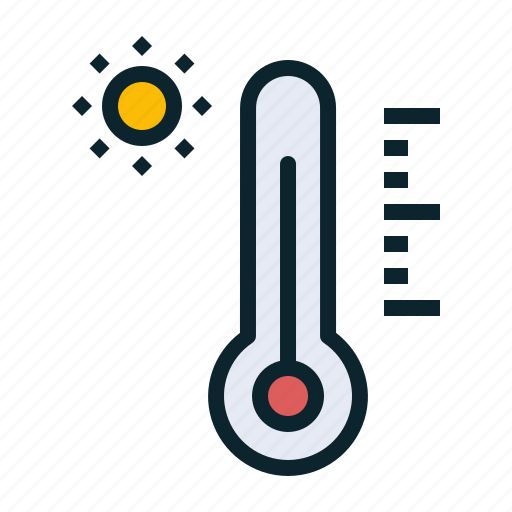 forecast, hot, measure, reading, temperature, thermometer, weather icon