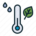 forecast, humidity, measure, reading, temperature, thermometer, weather icon