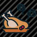 chicken, dinner, eat, food, meal, thanksgiving, turkey icon