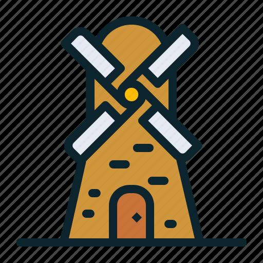 electricity, energy, turbine, wind, windmill icon