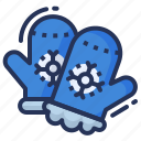 cold, mittens, weather, winter icon