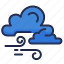 cloud, fall, weather, windy icon