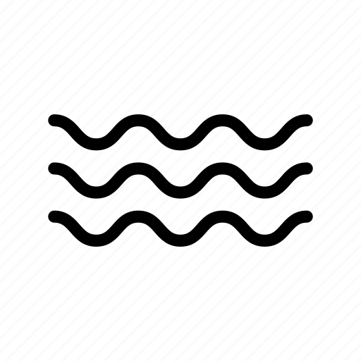 river, sea, water, waves icon