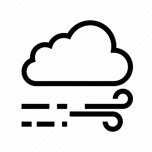 blow, cloud, weather, wind icon
