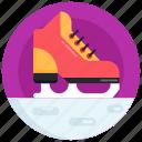 skate shoe, roller skate, ice skate, glissade, footwear