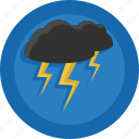 bad weather, lightnings, storm, thunder, thunderbolts, weather icon