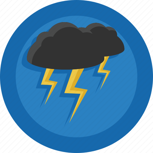 bad weather, lightnings, storm, thunder, thunderbolts, weather icon