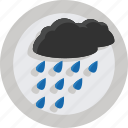 clouds, rain, raining, weather icon