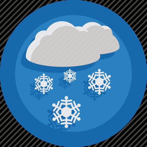 cloud, season, snow, snowing, weather, winter icon