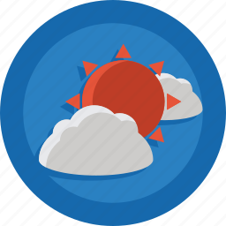 clouds, cloudy, hot, sun, weather icon