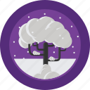 cold, season, snow, tree, weather, winter icon