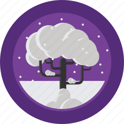 cold, season, snow, tree, weather, winter icon