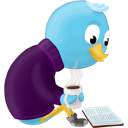 bird, book, read, twitter icon