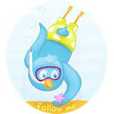 bird, diving, scuba icon