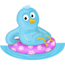 bird, pool, twitter icon