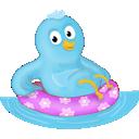 pták, bazén, Twitter icon
