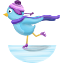 skating, twitter, winter icon
