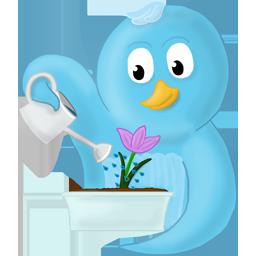 bird, flower, spring, twitter icon