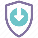 protection, security, shield, spyware, update icon